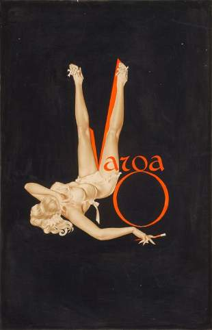 ALBERTO VARGAS (American, 1896-1982) Duotone Varga Sign