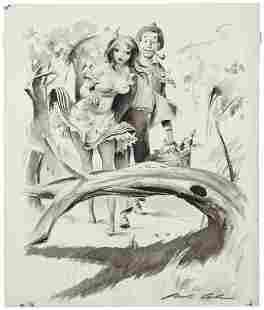 JACK COLE (American, 1914-1958) Playboy cartoon