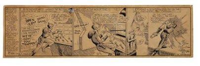 94018: Dick Calkins Buck Rogers Daily Comic Strip Origi