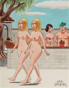 JOHN DEMPSEY (American, 1919-2002) Playboy carto
