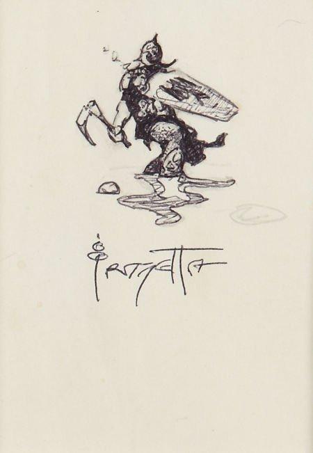 94071: Frank Frazetta Sketch Original Art (undated).