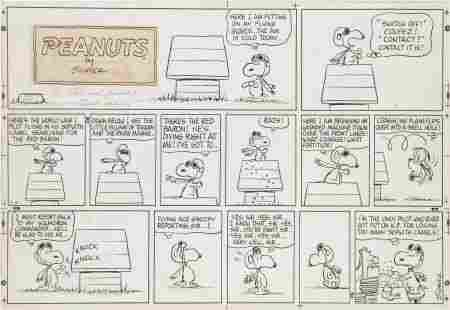 Charles Schulz Peanuts Snoopy vs. the Red Baron