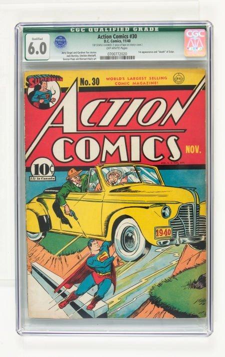 95002: Action Comics #30 (DC, 1940) CGC Qualified FN 6.