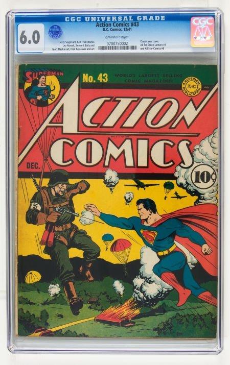 95004: Action Comics #43 (DC, 1941) CGC FN 6.0 Off-whit