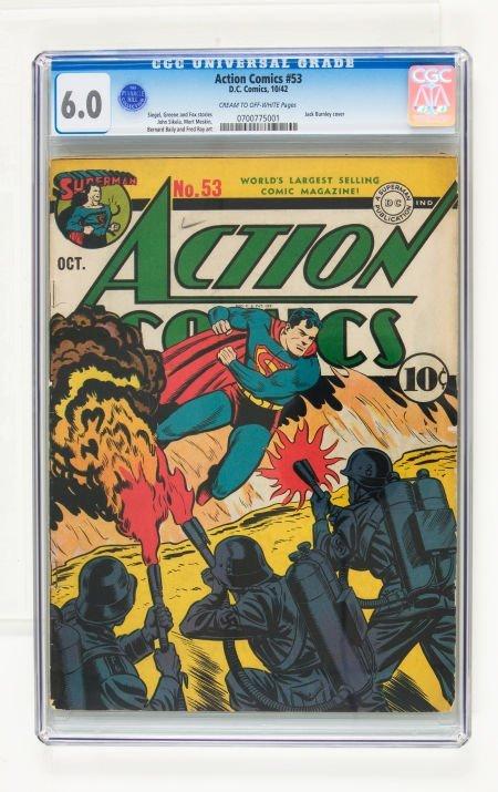 95005: Action Comics #53 (DC, 1942) CGC FN 6.0 Cream to