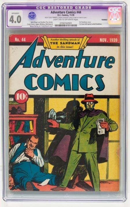 95009: Adventure Comics #44 (DC, 1939) CGC Apparent VG