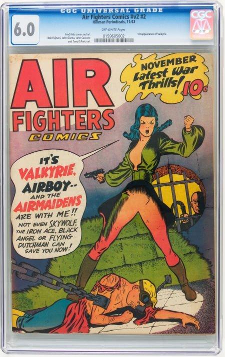 95015: Air Fighters Comics V2#2 (Hillman Fall, 1943) CG