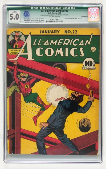 95016: All-American Comics #22 (DC, 1941) CGC Qualified