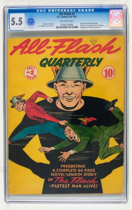 95020: All-Flash #2 (DC, 1941) CGC FN- 5.5 Off-white pa