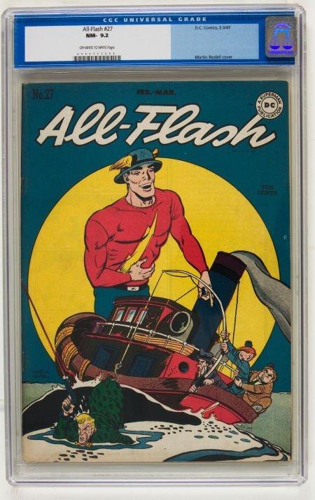 95021: All-Flash #27 (DC, 1947) CGC NM- 9.2 Off-white t