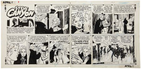 95455: Milton Caniff Steve Canyon Sunday Comic Strip Or