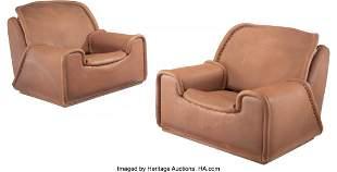 De Sede (Swiss, est. 1962) Pair of Lounge Chairs