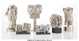 67077: Miguel Berrocal (Spanish, 1933-2006) Six Mini Pu