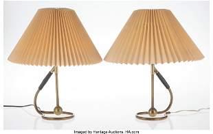 Kaare Klint (Danish, 1888-1954) Pair of Lamps Br