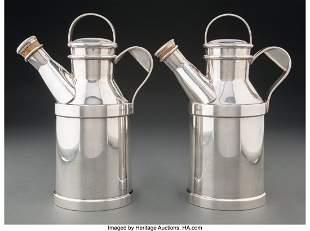 67162: Reed & Barton (American, est. 1824) Pair of Milk