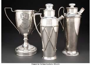 67189: American School (20th Century) Three Golf Trophy
