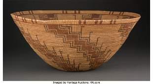 70091: A Large Kawaiisu Polychrome Bowl c. 1890 willo