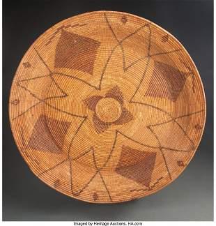 70092: A Large Yokuts Polychrome Gambling Tray c. 1880