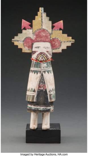 A Hopi Kachina Doll c. 1940 cottonwood, paint,