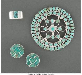 70270: Three Southwest Jewelry Items including a Navaj