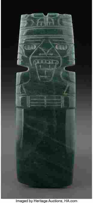 70180: A Large and Fine Jade Axe God Pendant Costa Ric