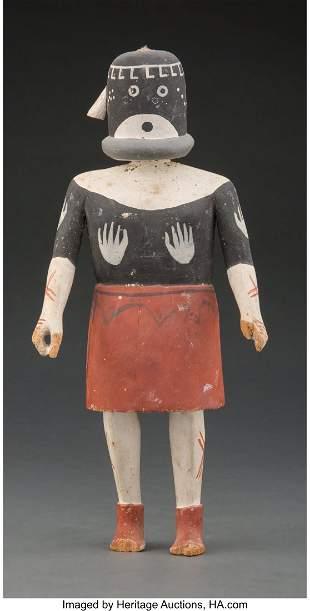 A Hopi Kachina Doll c. 1945 cottonwood, paint,