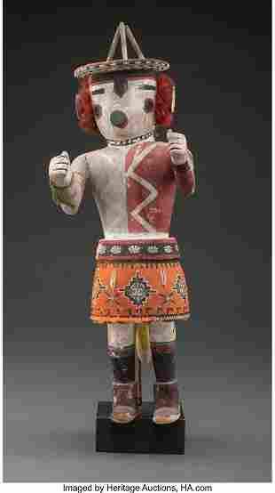 A Hopi Kachina Doll c. 1960 cottonwood, paint,