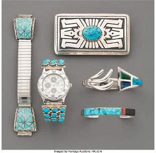 70277: Five Southwest Jewelry Items c. 1980 - 2000 in