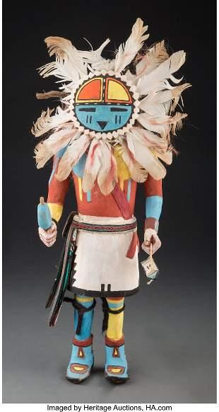A Hopi Kachina Doll c. 1950 cottonwood, paint,