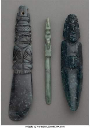 70188: Three Jade Pendants Costa Rica, c. 300 – 700
