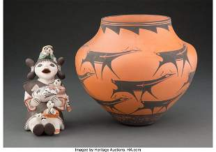 70302: Two Southwest Pottery Items M. Henderson and A