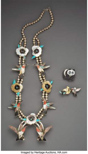 Three Zuni Jewelry Items Virgil and Shirley Ben