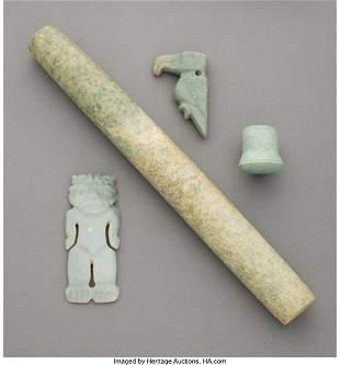 70190: Four Pre-Columbian Jade Items Costa Rica, c. 10
