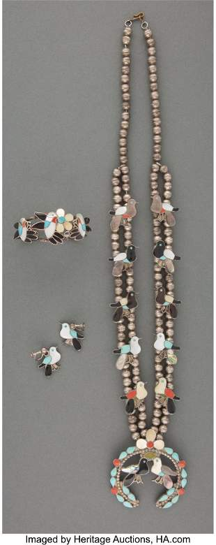 A Zuni Jewelry Suite Wesley and Ella L. Gia c.