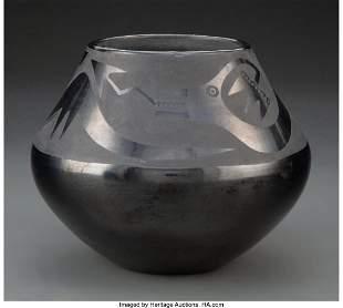 70049: A San Ildefonso Blackware Jar Maria and Julian