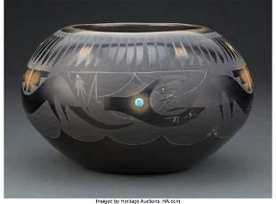70050: A San Ildefonso Blackware Jar Tanh-Moo-Whe (Ba