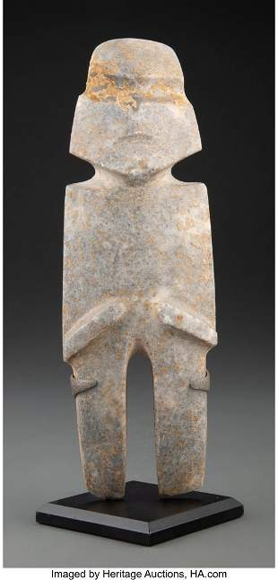 70172: A Mezcala Stone Figure Guerrero, Mexico, c. 500