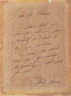 89084: Marilyn Monroe Handwritten Letter to Famed Actin
