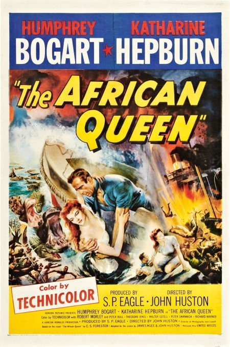 85019: The African Queen (United Artists, 1952). One Sh