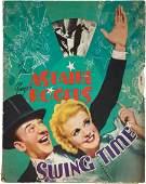 "85341: Swing Time (RKO, 1936). Pressbook (14.5"" X 13.5"""