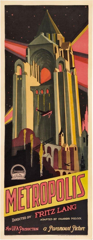 "85446: Metropolis (Paramount/UFA, 1927). Insert (14"" X"