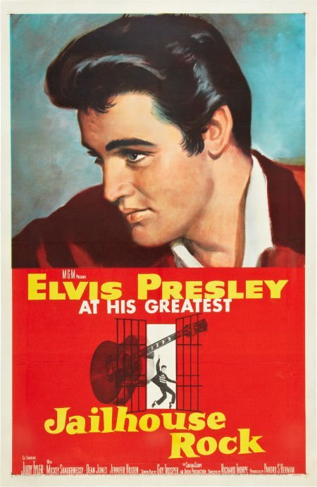 "85272: Jailhouse Rock (MGM, 1957). One Sheet (27"" X 41"""