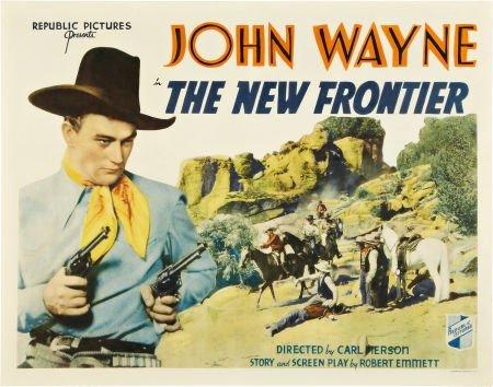 85706: The New Frontier (Republic, 1935). Half Sheet (2