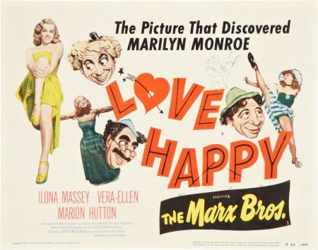 85731: Love Happy (United Artists, R-1953). Title Lobby