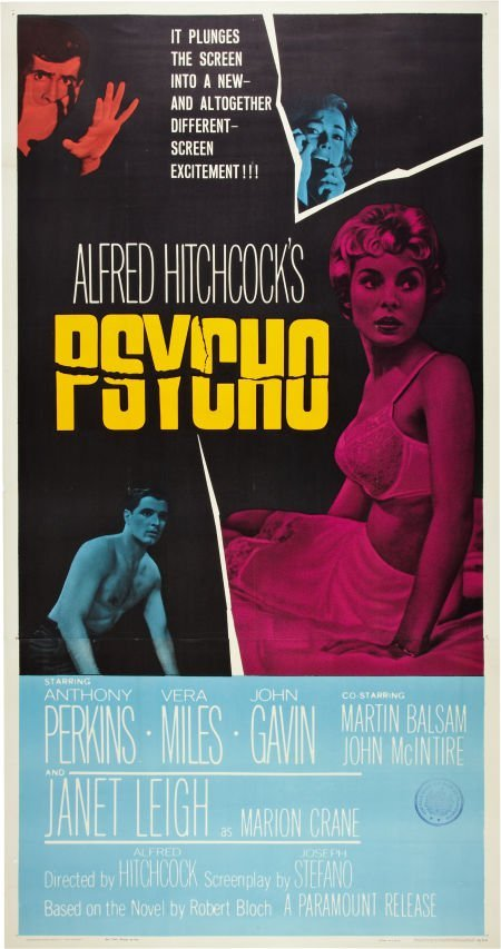 "85743: Psycho (Paramount, 1960). Three Sheet (41"" X 81"""