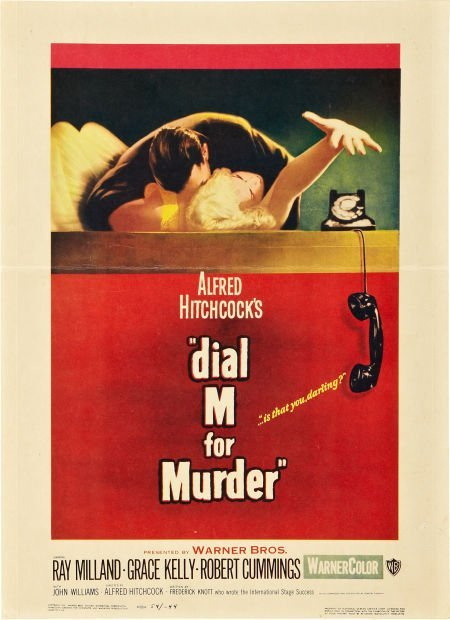 85745: Dial M For Murder (Warner Brothers, 1954). Windo