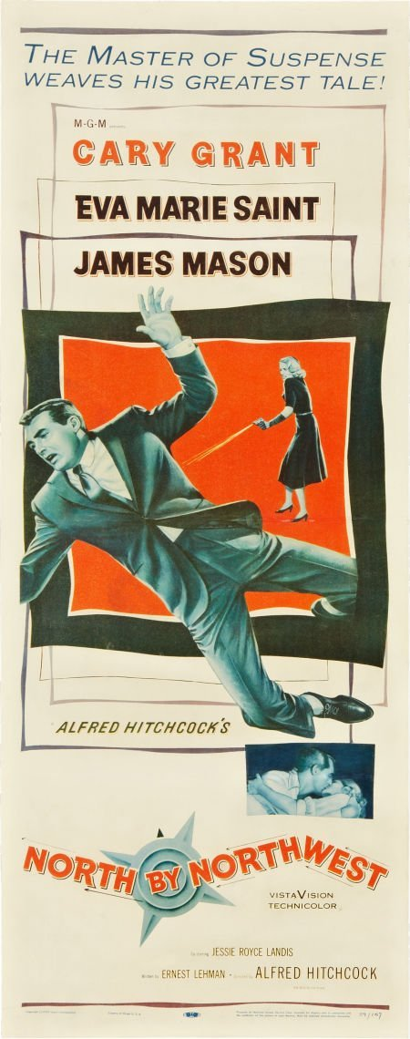 "85746: North by Northwest (MGM, 1959). Insert (14"" X 36"