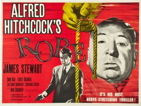 "85749: Rope (MGM, R-1950s). British Quad (30"" X 40"")."