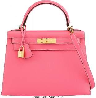 14006: Hermès Special Order Horseshoe 28cm Rose Azalee