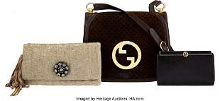 14293: Gucci and Lanvin Set of Three: Clutches and Shou